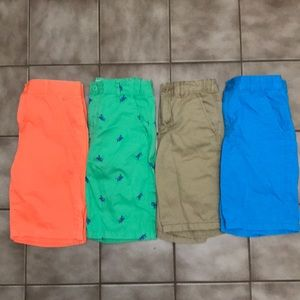 Children's place lot of 4 adjustable waist shorts
